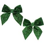 Green-Glitter-Hair-Bows