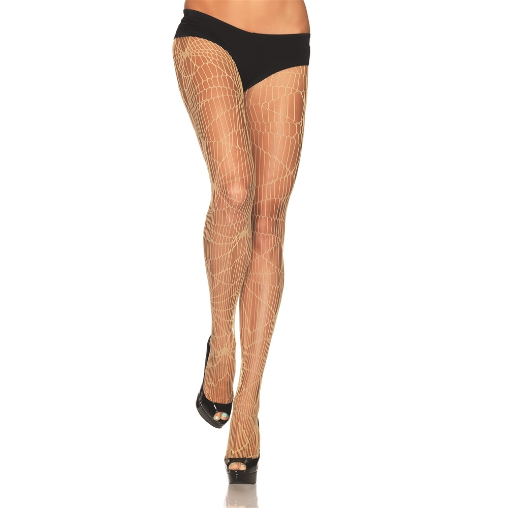 Nude Distressed Net Pantyhose Z9934-NUDE