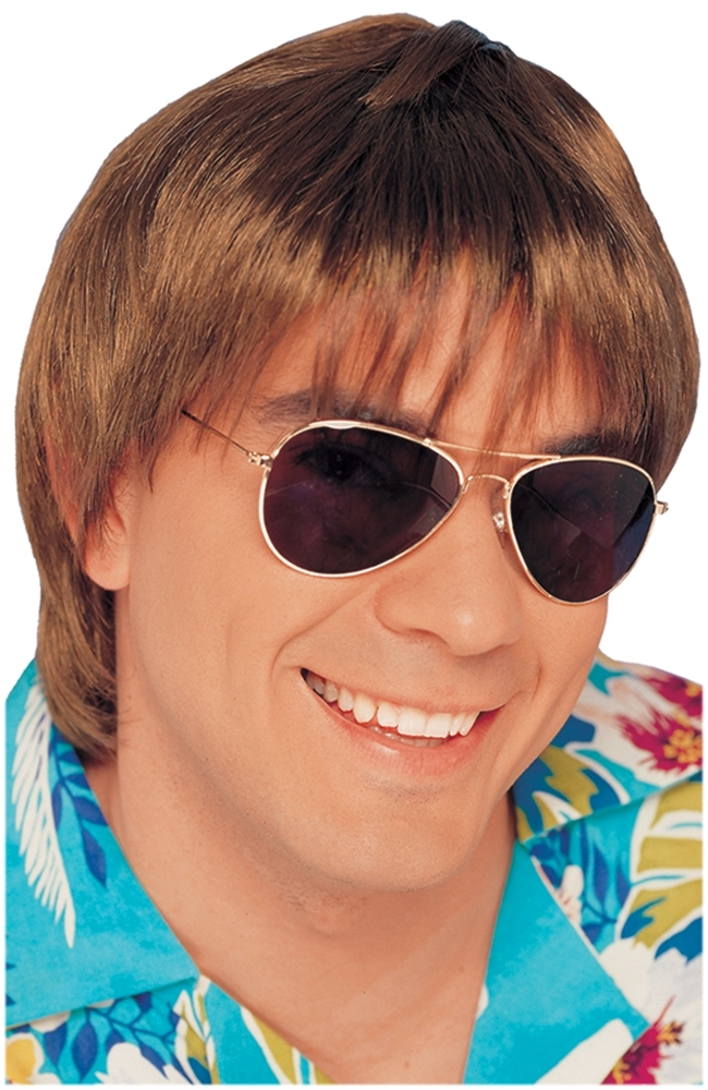 Brown Surfer Dude Wig 2458512
