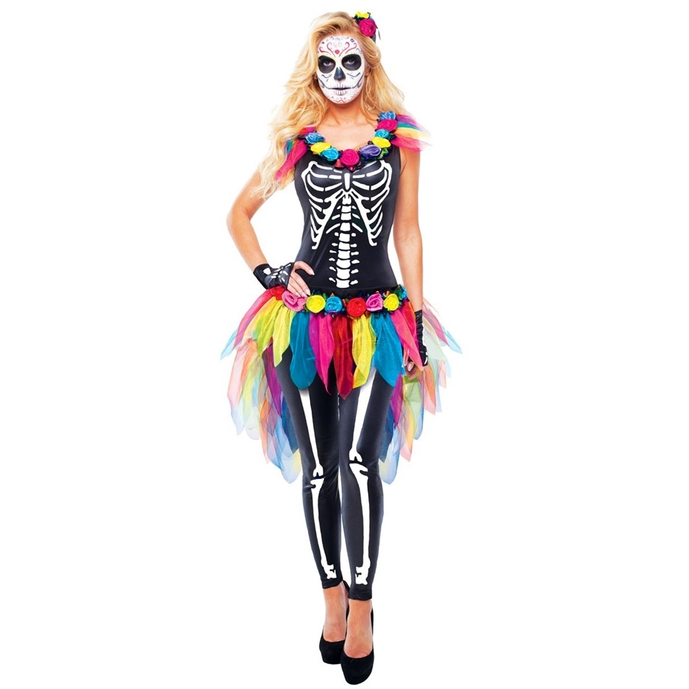 Day of the Dead Sugar Skeleton Adult Womens Costume