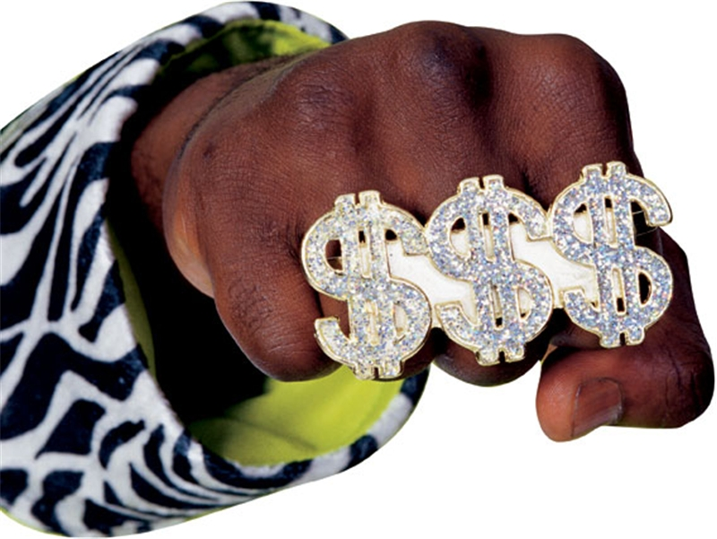 Three Finger Dollar Ring by Rubies