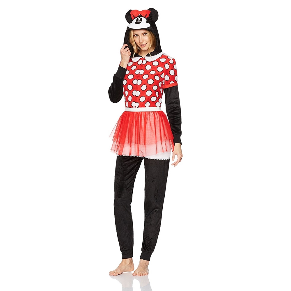 Minnie Mouse Dress Adult Womens Onesie - 397565 | trendyhalloween.com