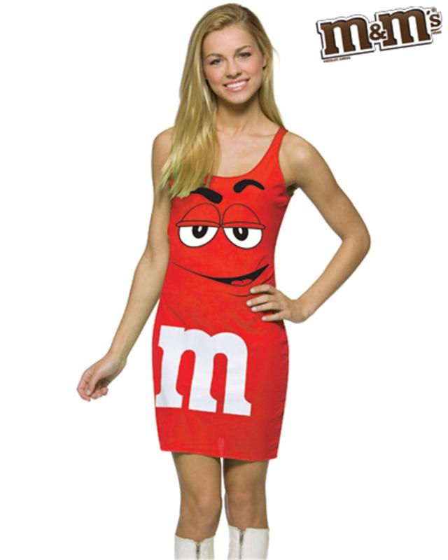 M&M Red Dress Teen Costume (M&m Dress Costume)
