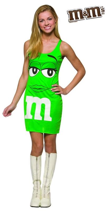 M&M Green Dress Teen Costume (M&m Dress Costume)