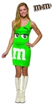 M & M Green Dress Teen Costume