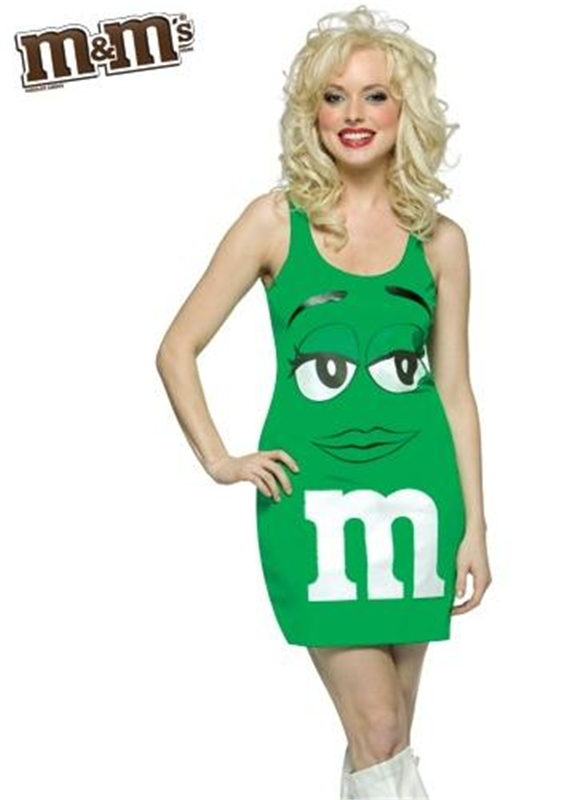 M&M Green Dress Adult Costume