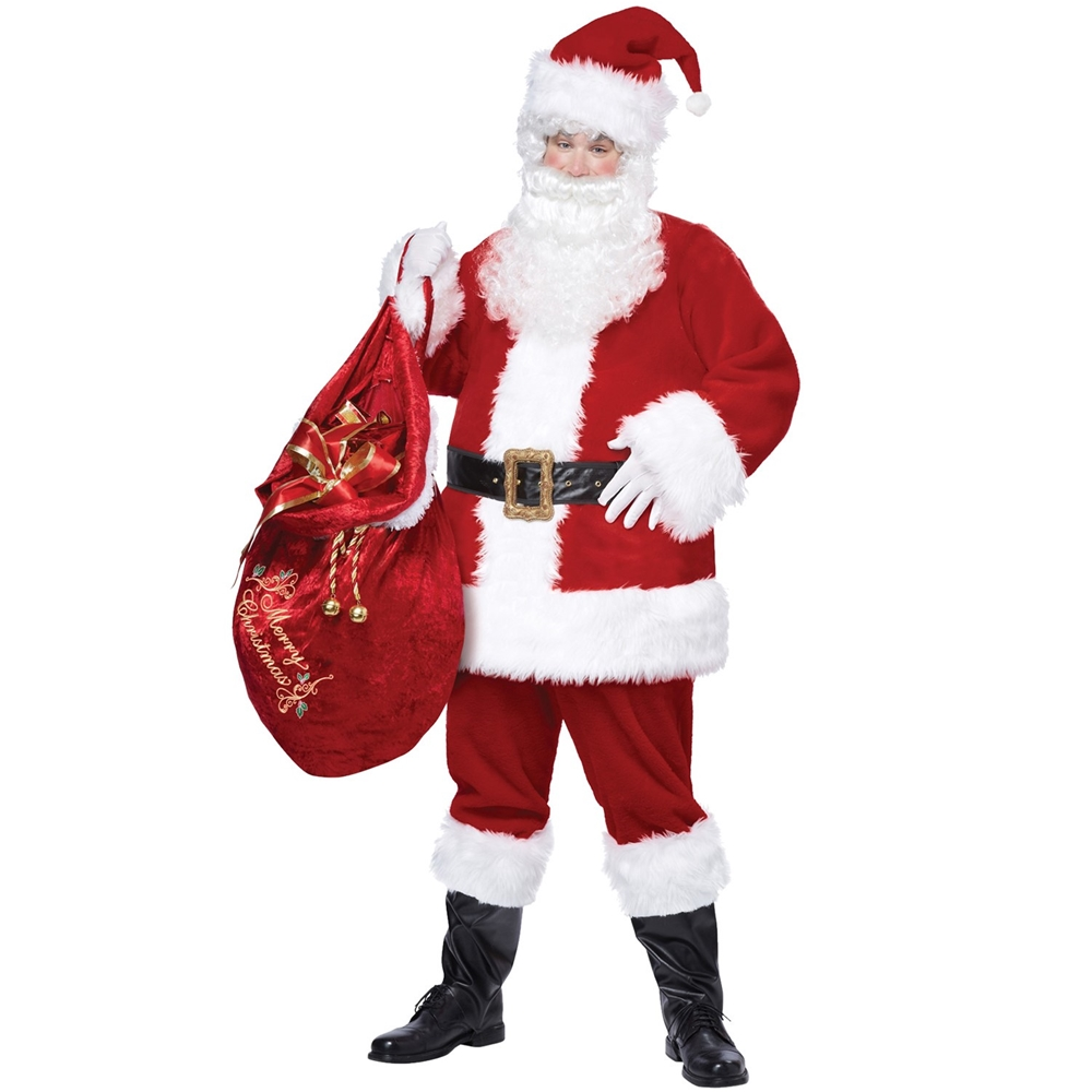 Santa Claus Deluxe Adult Mens Plus Size Costume