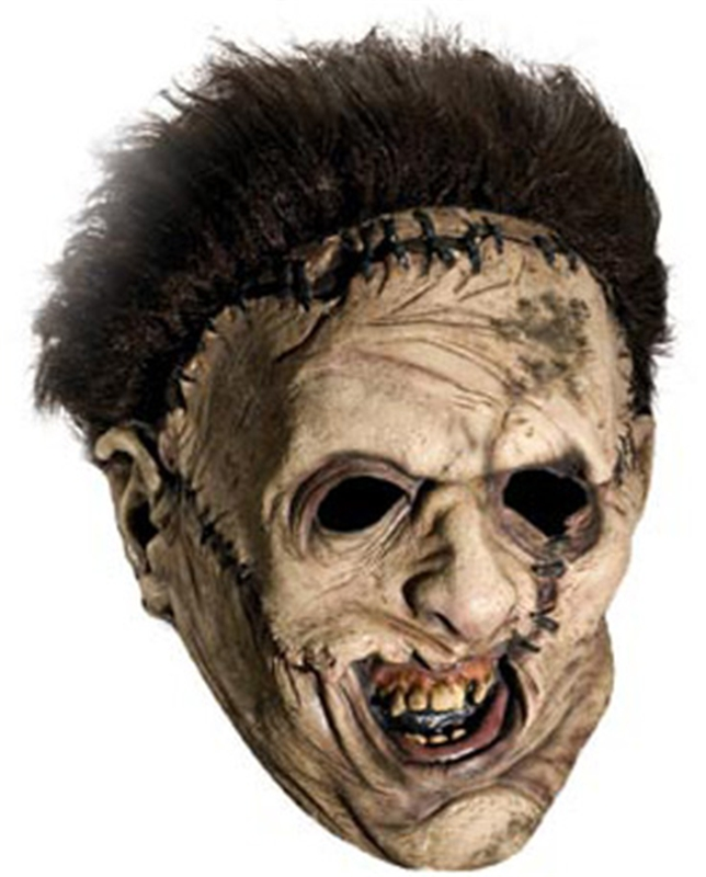The Texas Chainsaw Massacre Leatherface Deluxe Adult 3/4 Mask With Hair