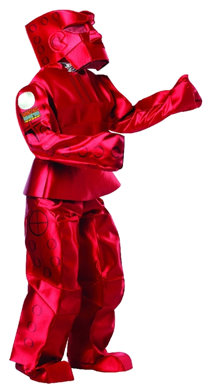 Red Rock Em Sock Em Robot Adult Costume