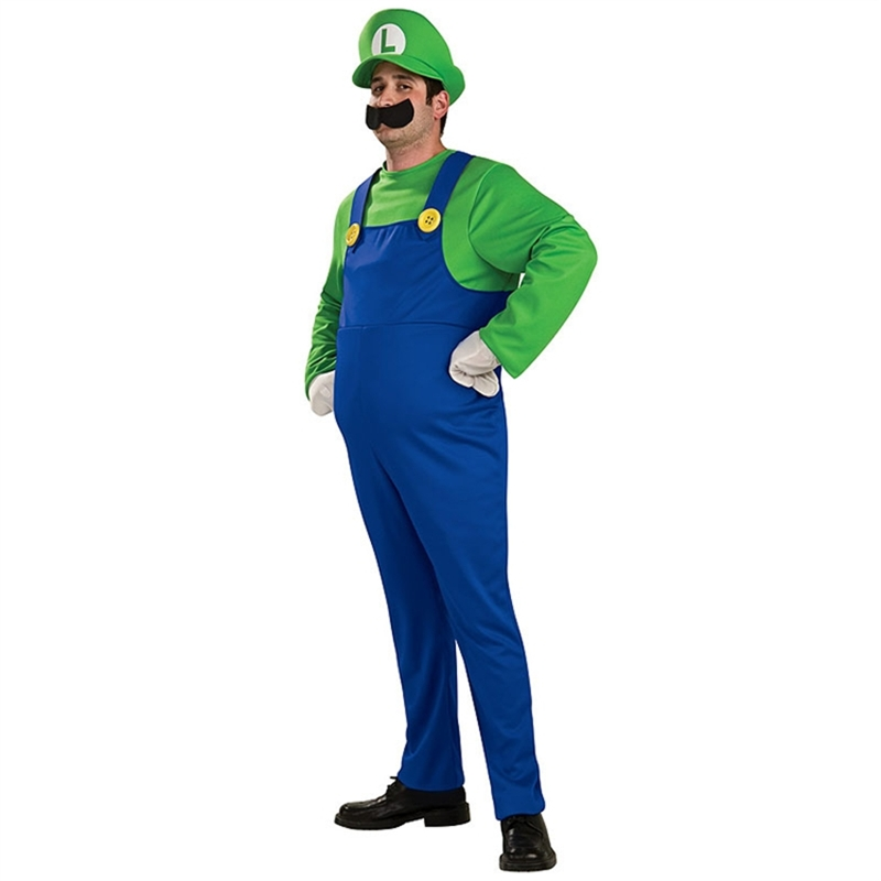 Deluxe Mario Brothers Luigi Adult Mens Costume