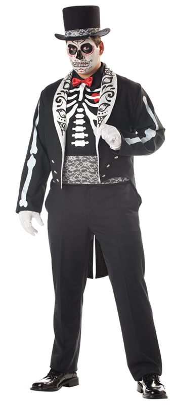 Boneyard Groom Adult Mens Plus Size Costume