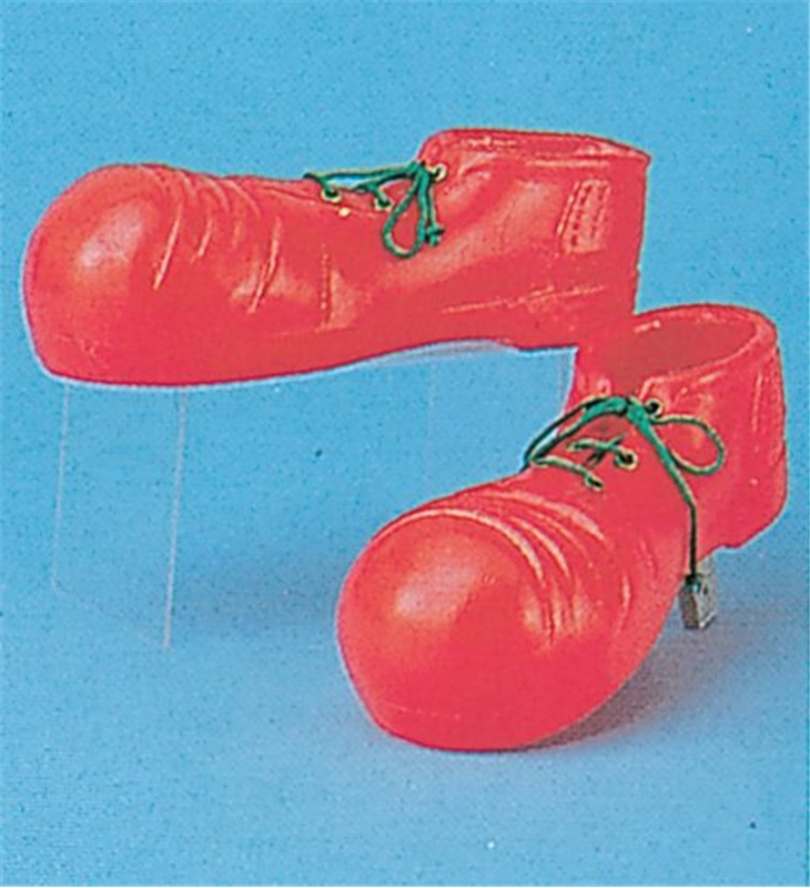 Plastic Clown Shoes Child Red