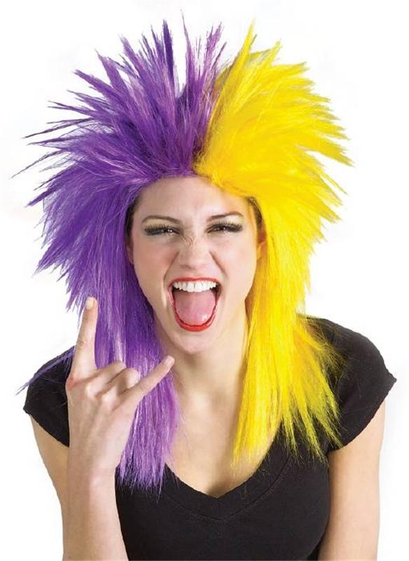 Purple And Yellow Wig (Wigs Purple)