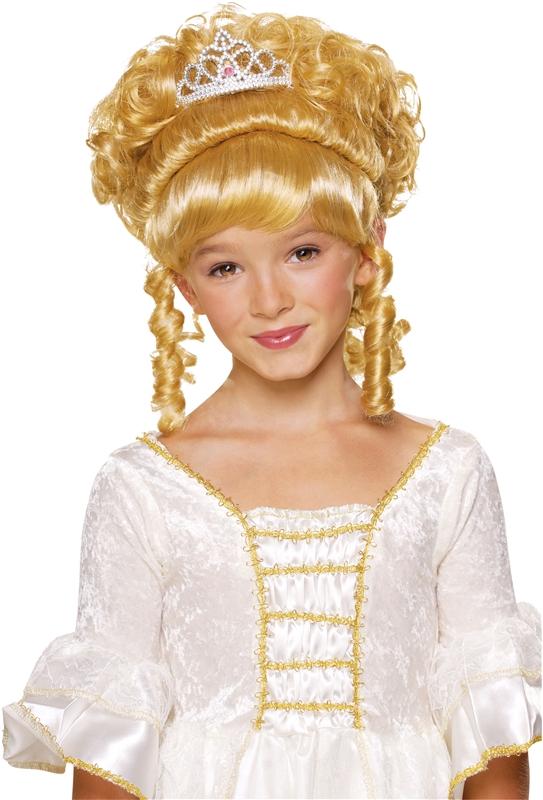 Princess Blonde Wig with Tiara Child