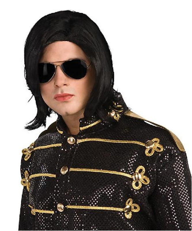 Michael Jackson Wig with Glasses
