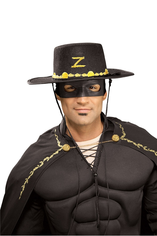 [Zorro Adult Hat and Eye Mask] (Zorro Hat)