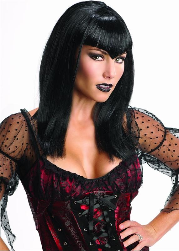 Adult Womens Glitter Vamp Wig