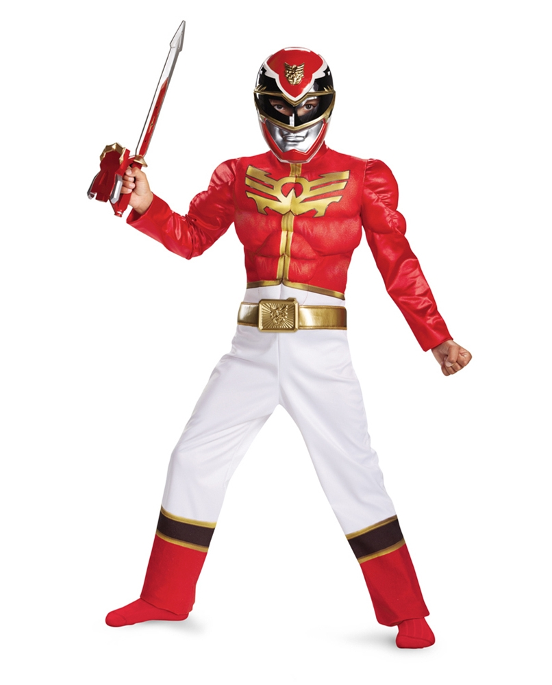 Power Rangers Megaforce Red Ranger Muscle Boy Costume