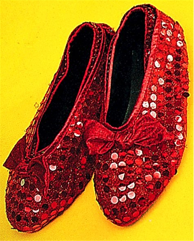 Red Sequin Shoe Cover Child