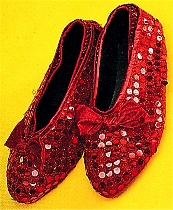 Red Sequin Shoe Cover Adult