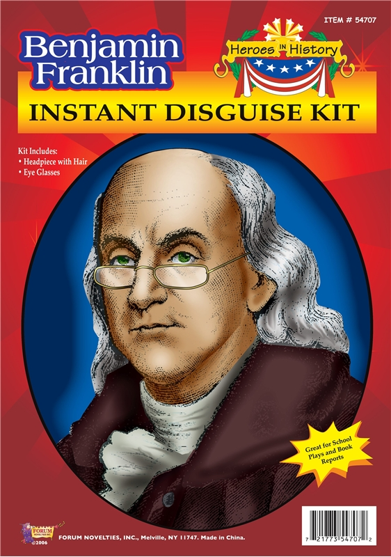 Benjamin Franklin Instant Disguise Kit