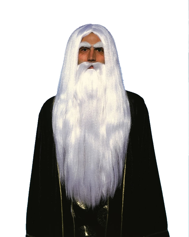 Merlin Wig and Beard
