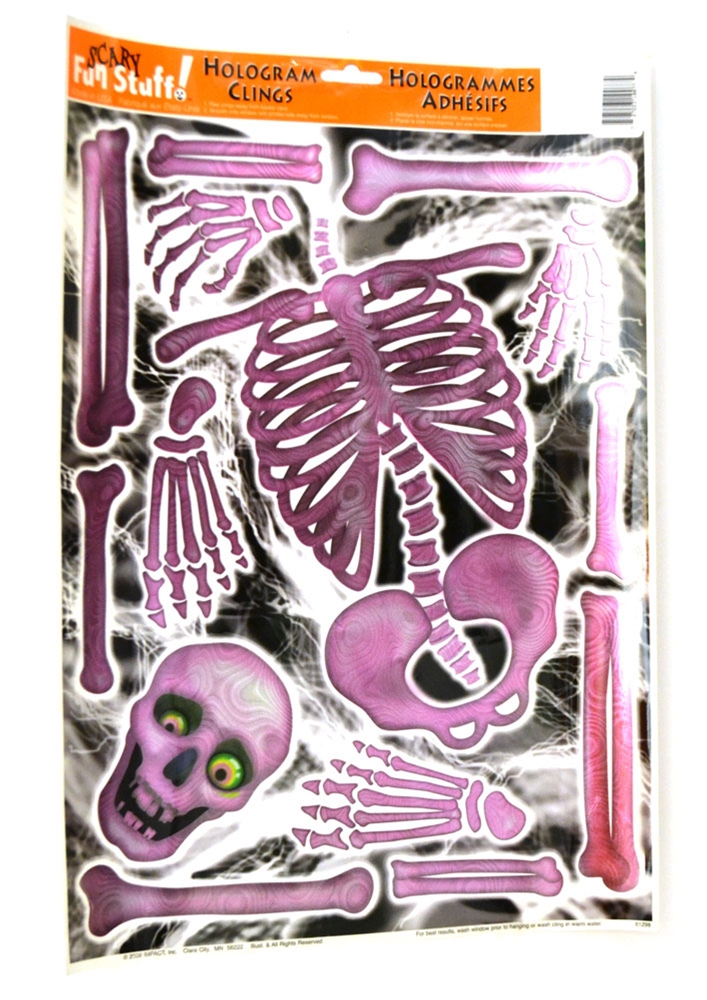 Pink Hologram Skeleton Clings