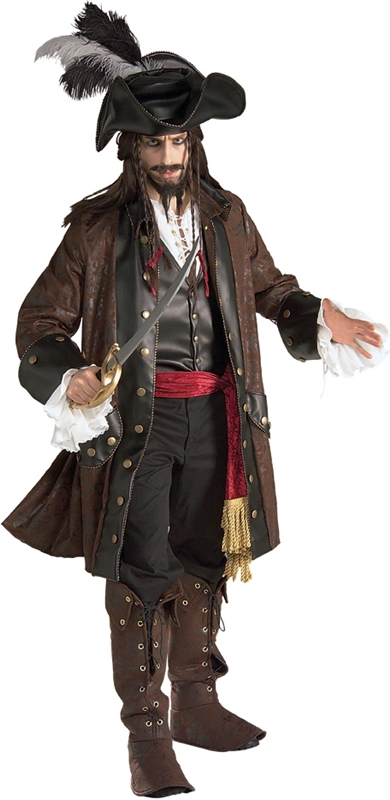 Caribbean Pirate Adult Mens Costume