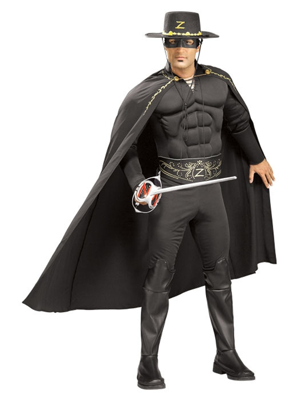 Zorro Deluxe Muscle Adult Mens Costume