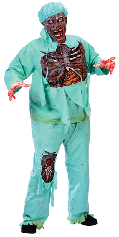 Zombie Doctor Plus Size Adult Mens Costume