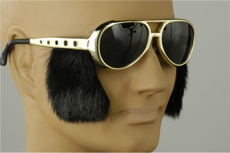 Elvis Rocker Glasses with Sideburns