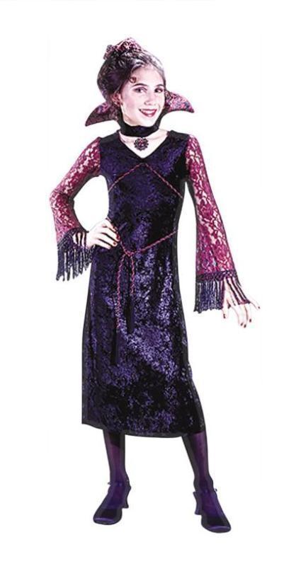 Купить Deluxe Goth Lace Vamp Child Costume