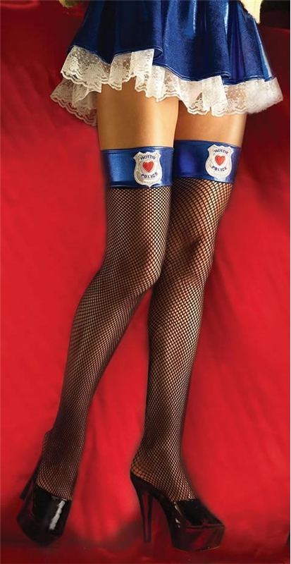 Hottie Police Thigh High Fishnets by Forum Novelties