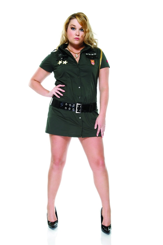 Army Seductress Plus Size Adult Womens Costume