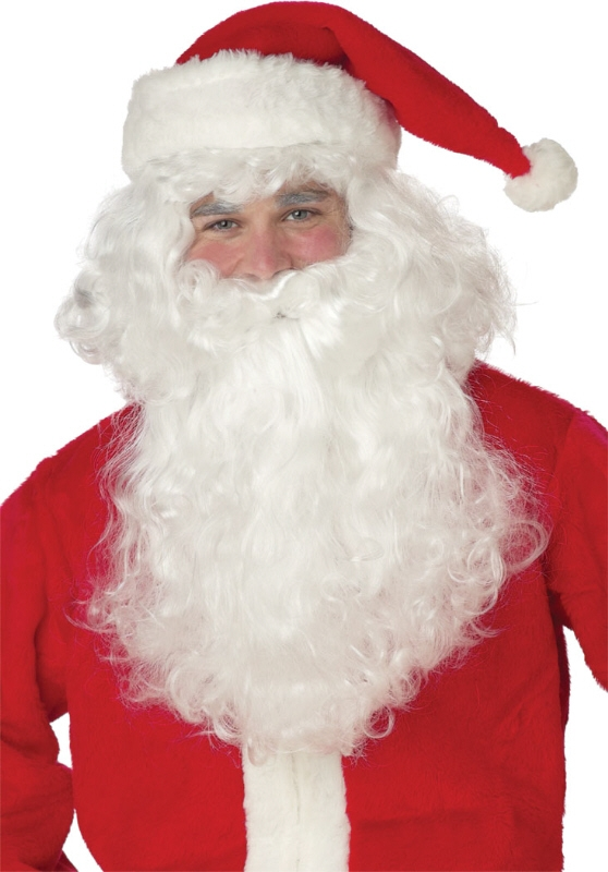 Santa Claus Beard and Wig Set by California Costumes