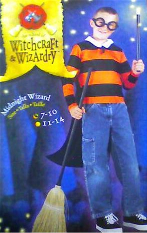 Midnight Wizard Set Child Costume