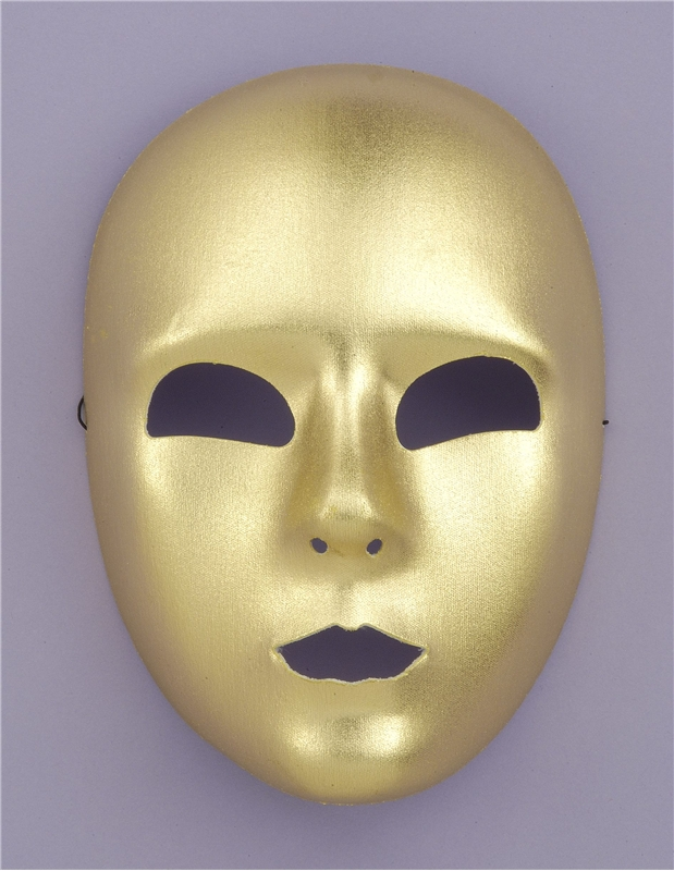 Gold Full Face Adult Mask