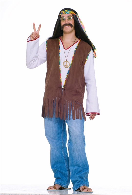 Hippie Adult Mens Vest