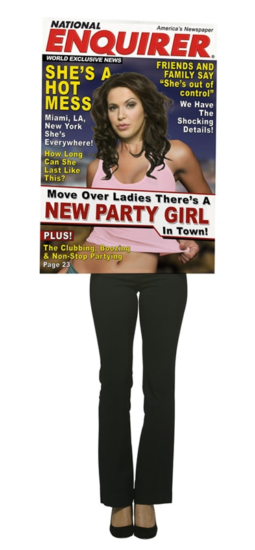 Magazine Cover Star Party Girl Adult Costume by Rasta Imposta