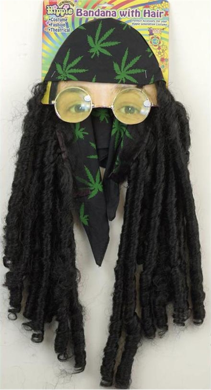 Hippie Bandana with Braids Adult Wig