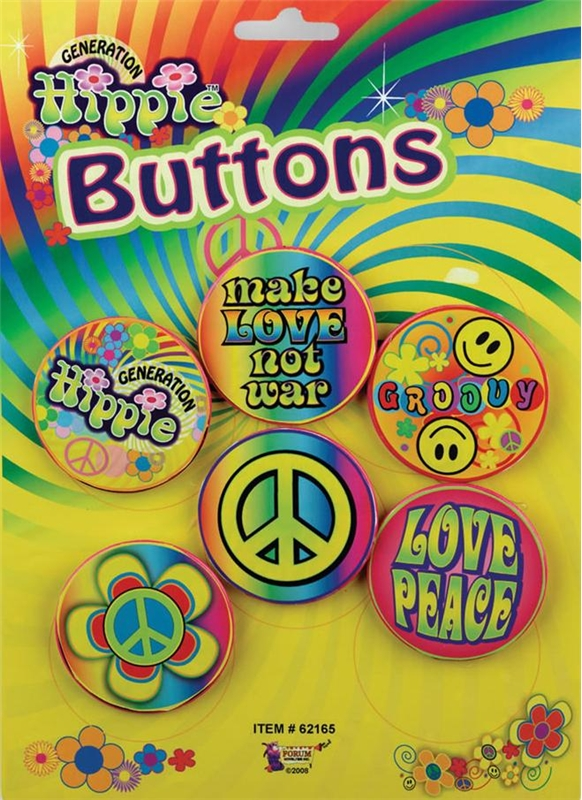 Hippie Button Set (6 Pieces)