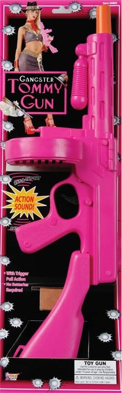 20s Gangster Hot Pink Tommy Gun