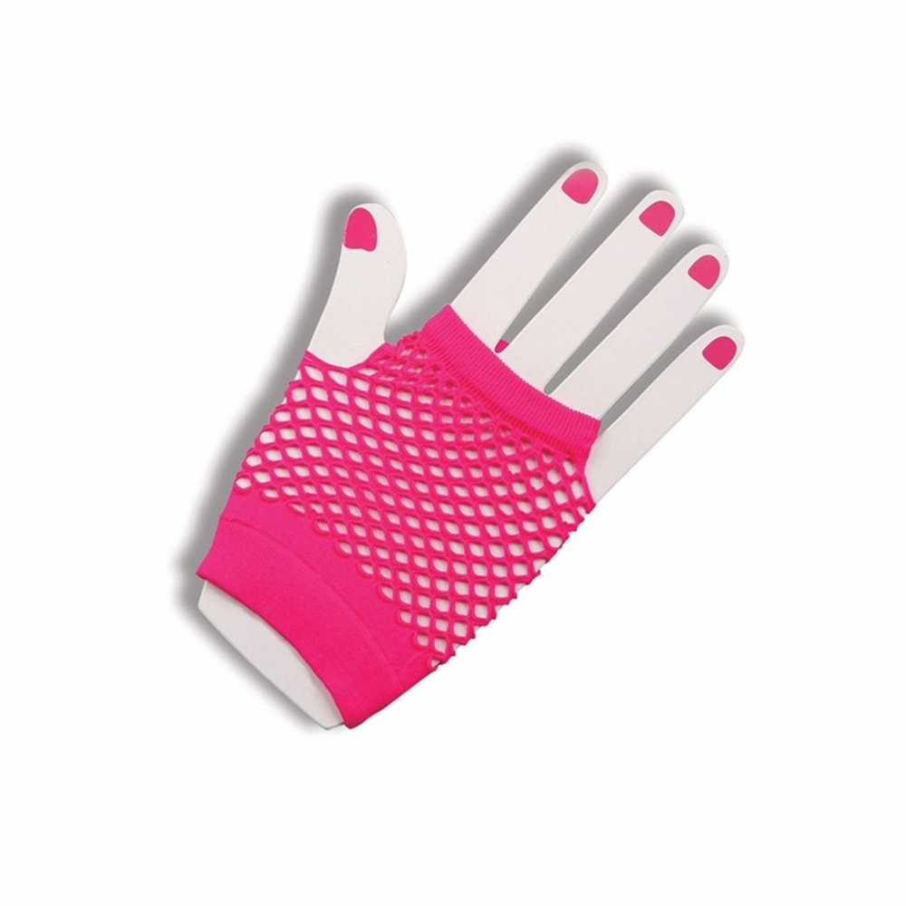 80s Neon Fishnet Adult Gloves