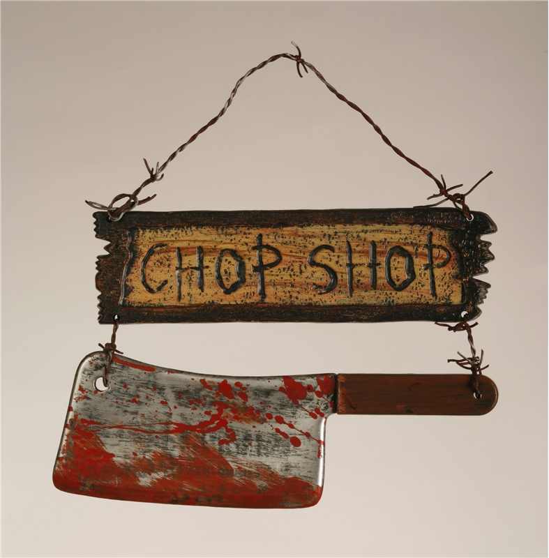 Chop Sign with Cleaver