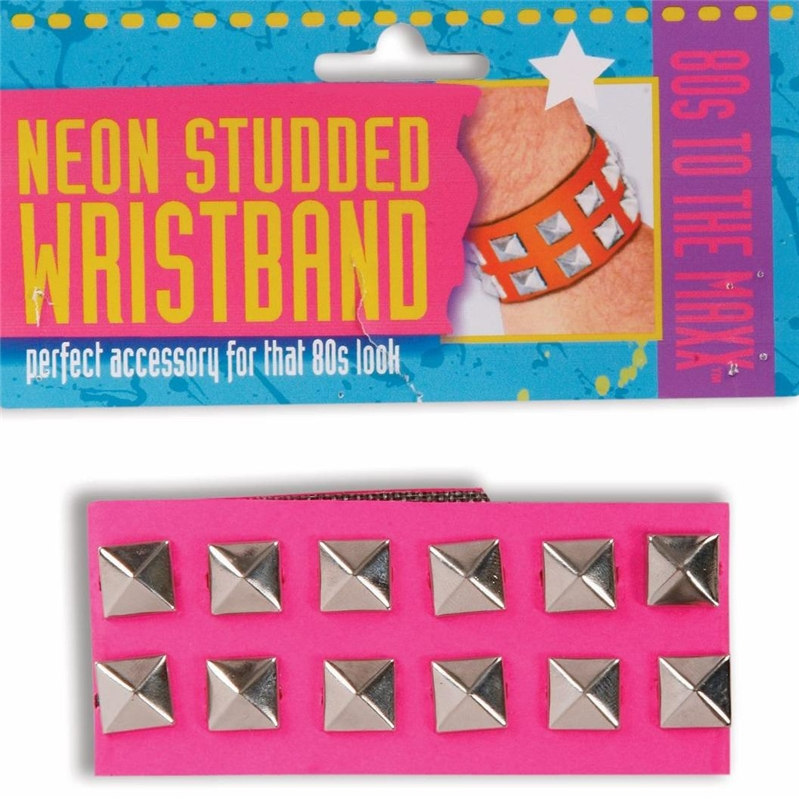 Neon Studded Wristband by Forum Novelties