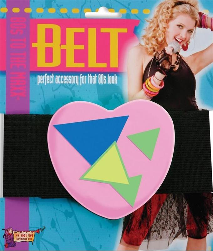 80s Neon Pink Heart Belt