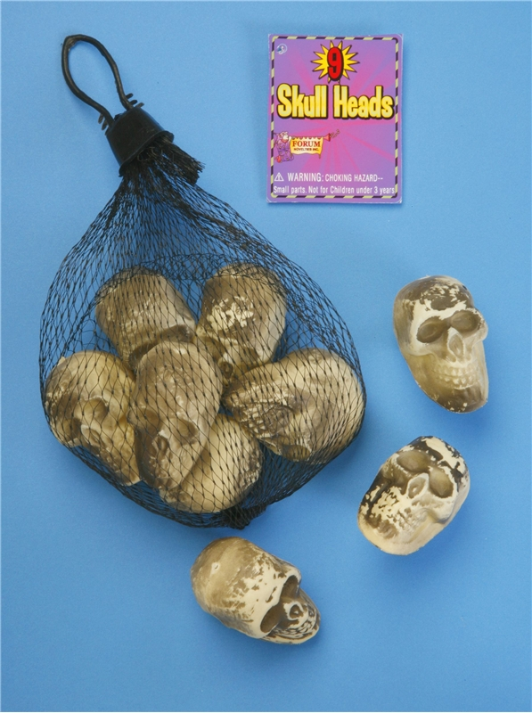 9pc Mini Skull Set