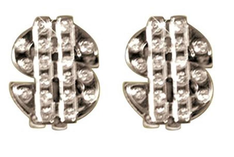 Dollar Sign Studded Earrings