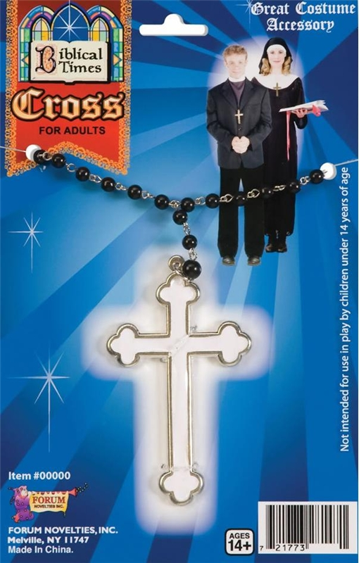 Catholic Cross Rosary Beads Necklace
