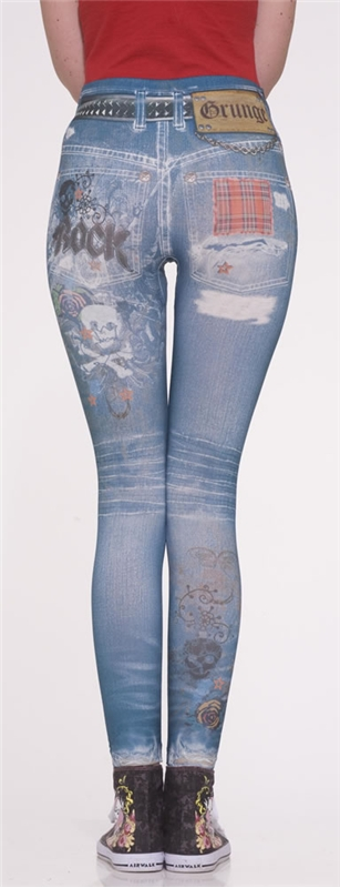 Grunge Jean Leggings